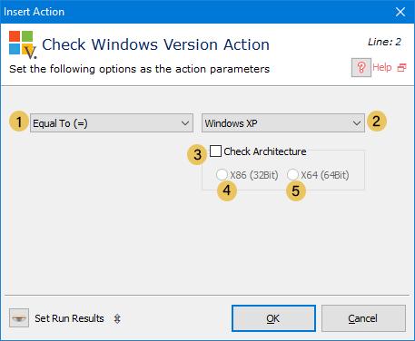 اکشن Check Windows Version