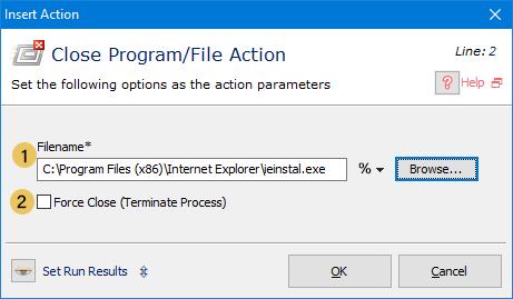 Close Program/File Actions
