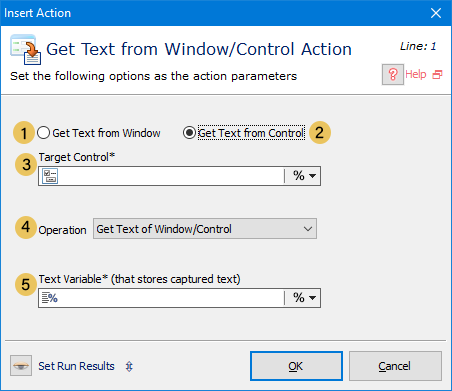 اکشن Get Text from Window/Control