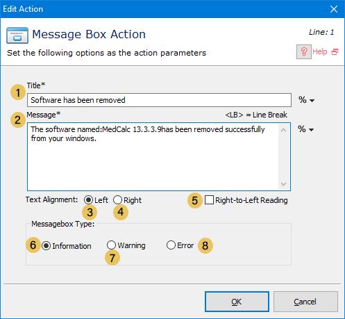 اکشن Message Box