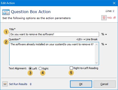 اکشن Question Box
