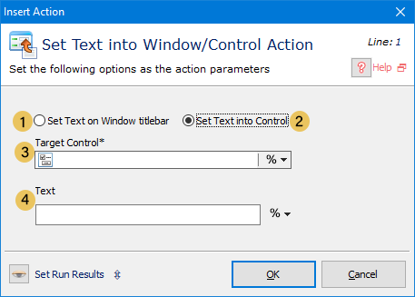 Set Text into Window/Control