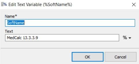 edit text variable