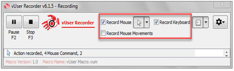 Configuring the Record Process in the recorder application